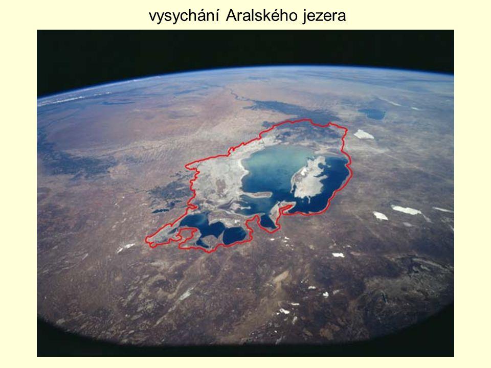 vysychání Aralského jezera