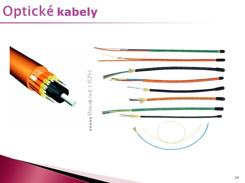 14 Optické kabely