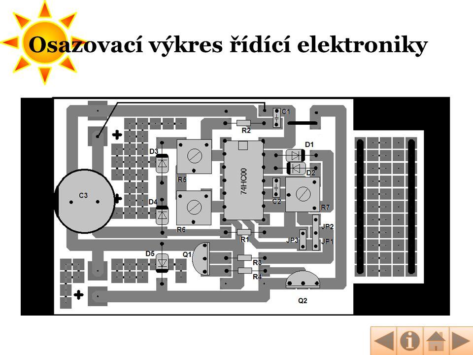 Osazovací výkres řídící elektroniky