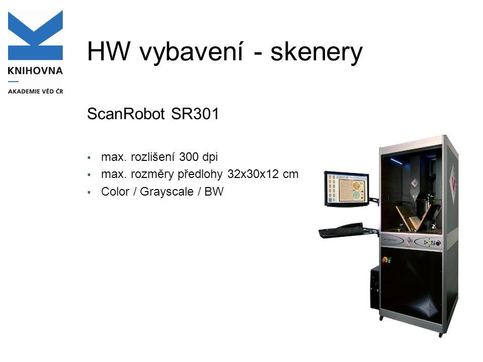 HW vybavení - skenery ScanRobot SR301  max.rozlišení 300 dpi  max.