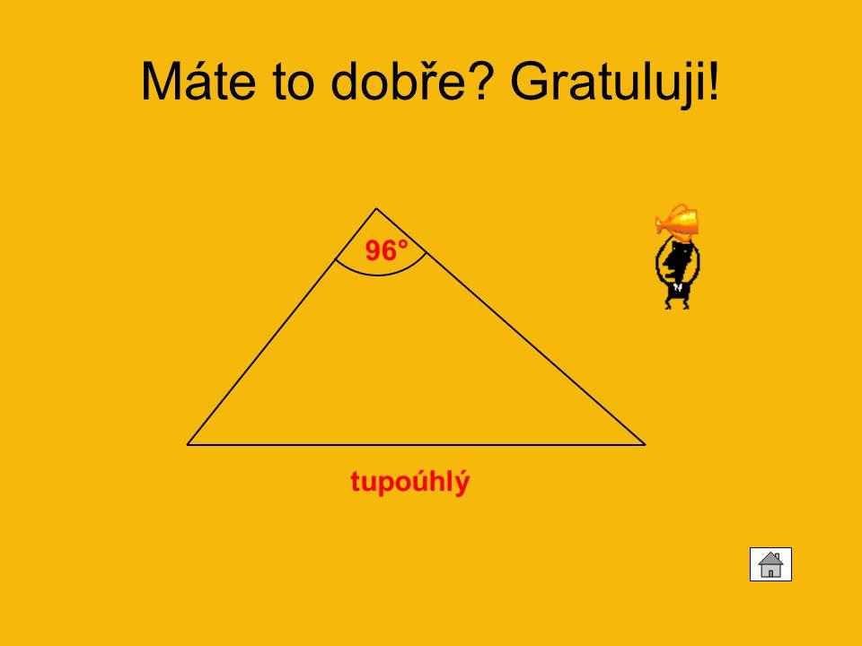Vypočítej velikost třetích vnitřních úhlů trojúhelníku a rozhodni, jestli jde o trojúhelník ostroúhlý, tupoúhlý nebo pravoúhlý: 1. 49° 35° 75° 35° 2.