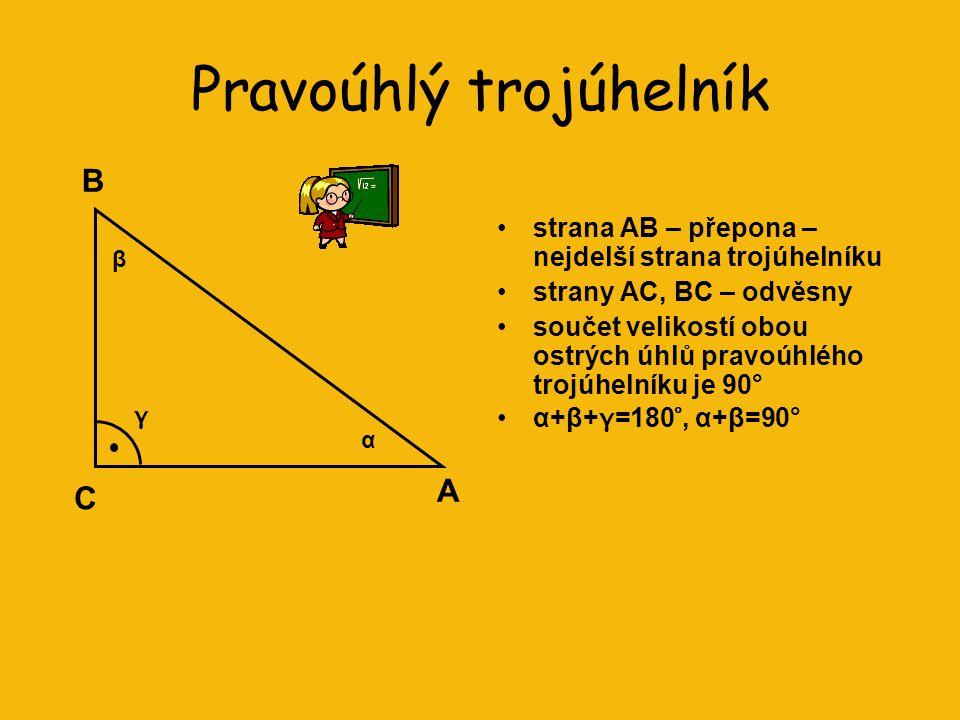 Rovnostranný trojúhelník •všechny tři strany mají stejnou délku •má tři osy souměrnosti •všechny vnitřní úhly mají velikost 60° R QP Moudrost se proje