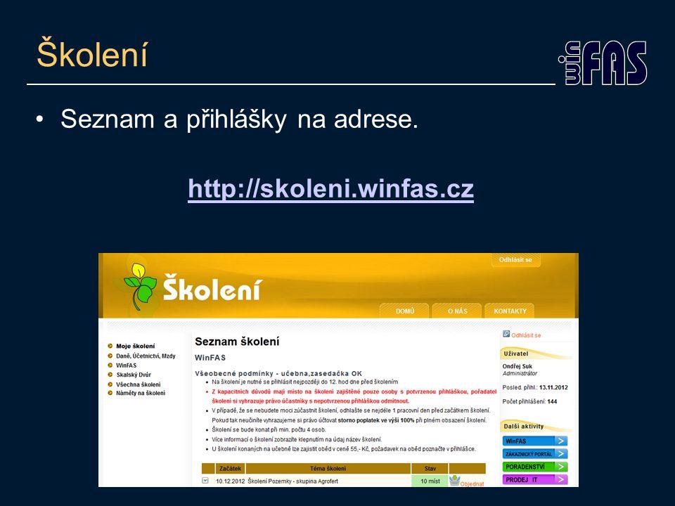 CRM - Co nabízí •Návody ze školení v PDF.•Instalační soubory WinFASu.
