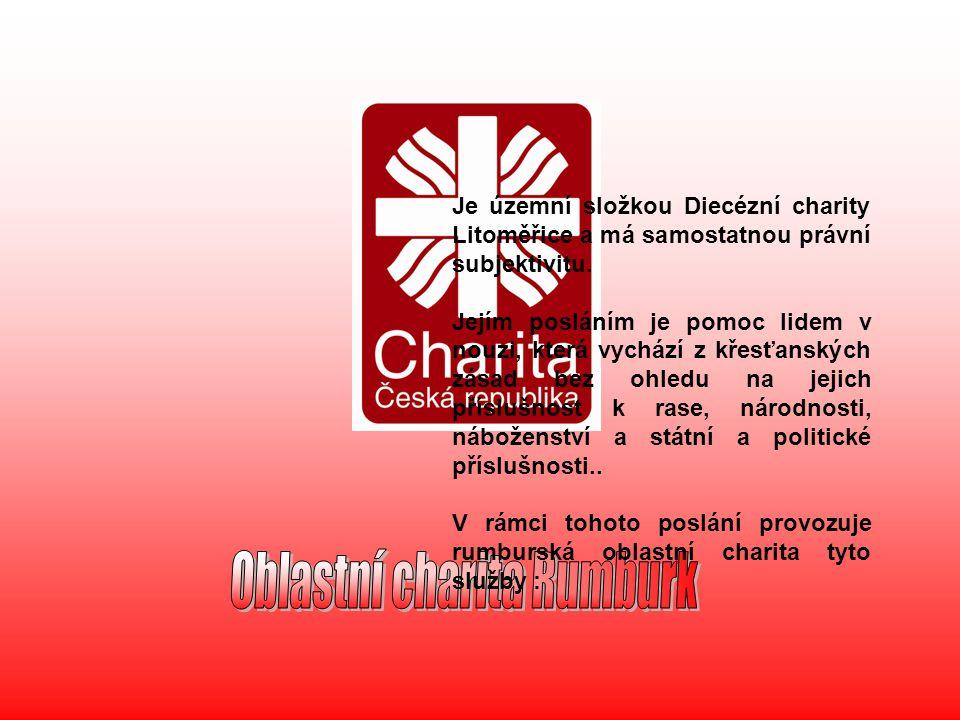 Je územní složkou Diecézní charity Litoměřice a má samostatnou právní subjektivitu. Jejím posláním je pomoc lidem v nouzi, která vychází z křesťanskýc