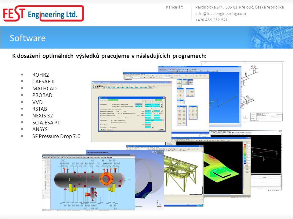 Software Kancelář: Pardubická 244, 535 01 Přelouč, Česká republika info@fest-engineering.com +420 466 052 521 K dosažení optimálních výsledků pracujem