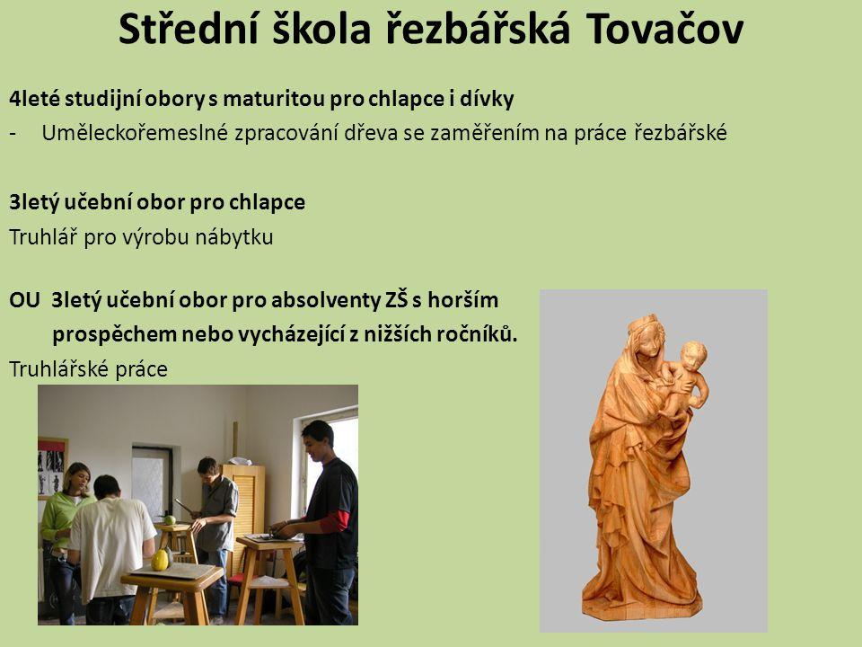 Střední škola řezbářská Tovačov 4leté studijní obory s maturitou pro chlapce i dívky -Uměleckořemeslné zpracování dřeva se zaměřením na práce řezbářsk