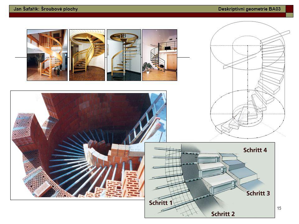 15 Jan Šafařík: Šroubové plochyDeskriptivní geometrie BA03