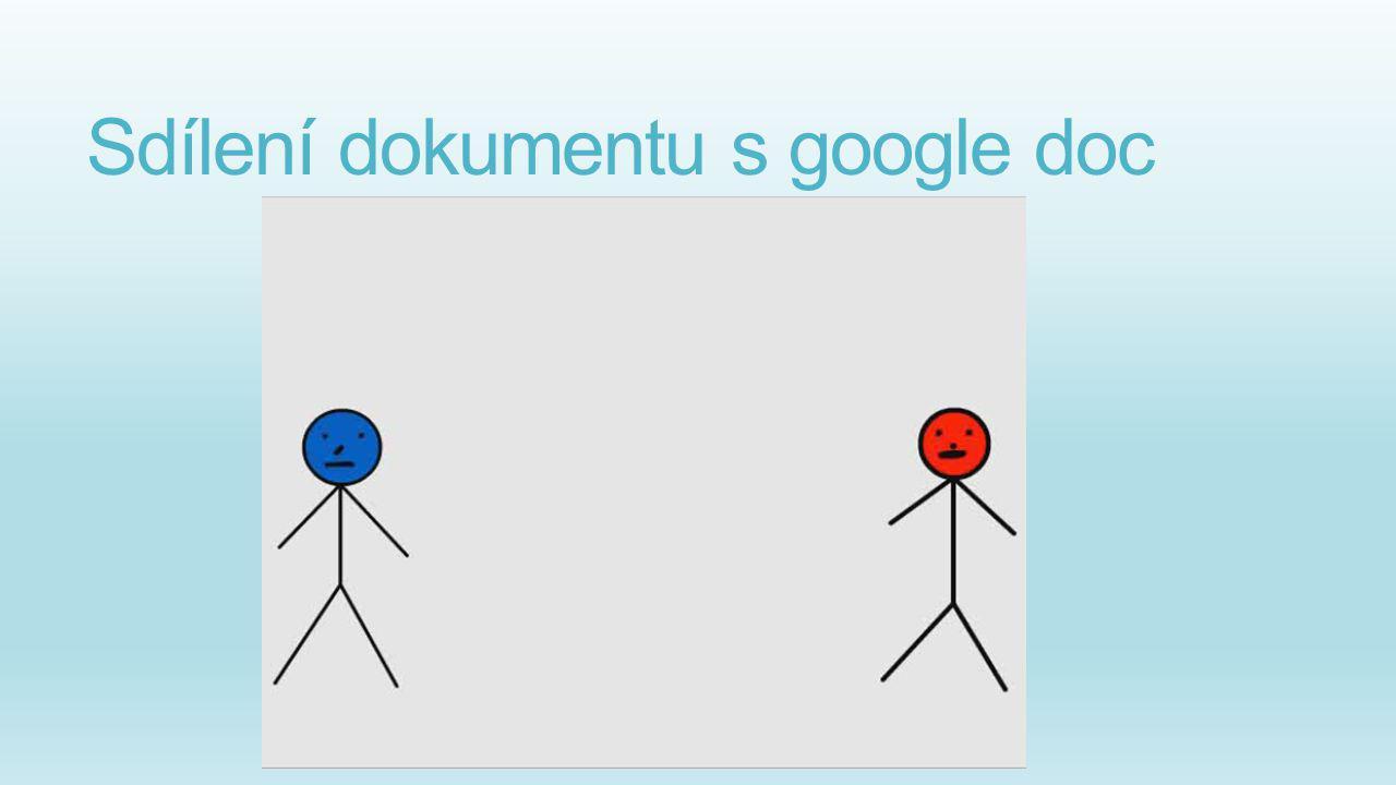 Sdílení dokumentu s google doc