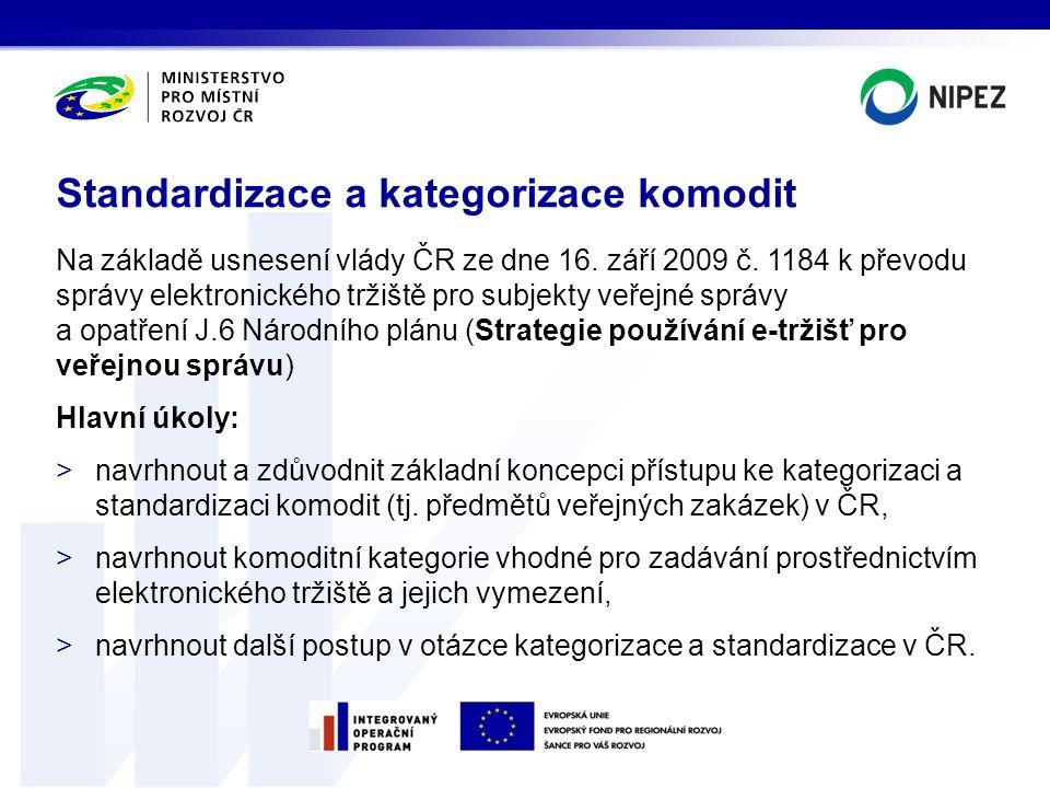 Na základě usnesení vlády ČR ze dne 16. září 2009 č. 1184 k převodu správy elektronického tržiště pro subjekty veřejné správy a opatření J.6 Národního