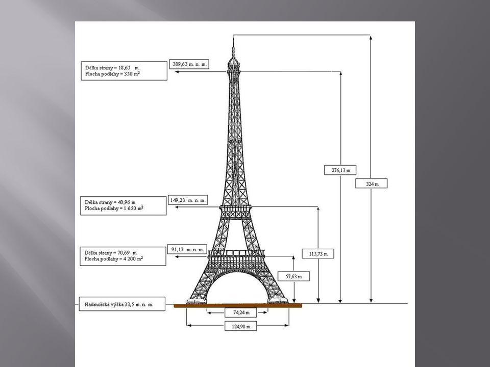  První den jsme strávili na Eiffelově věži.