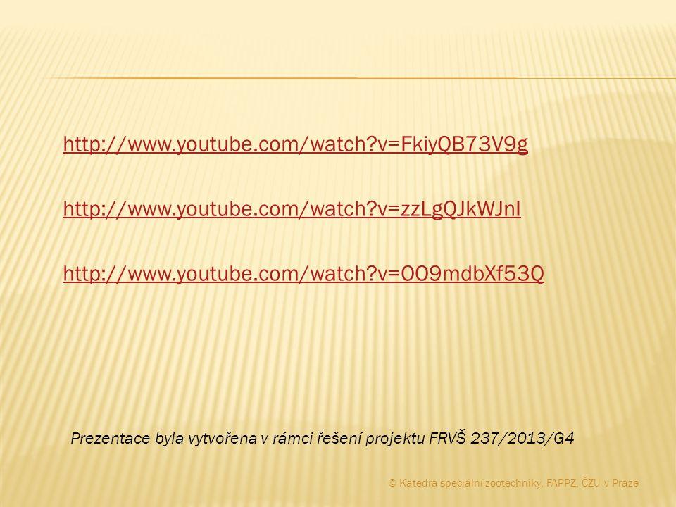http://www.youtube.com/watch?v=FkiyQB73V9g http://www.youtube.com/watch?v=zzLgQJkWJnI http://www.youtube.com/watch?v=OO9mdbXf53Q Prezentace byla vytvo
