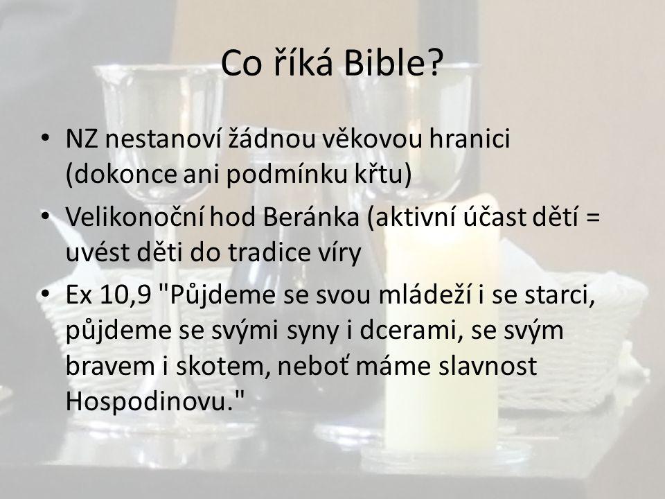 Co říká Bible.