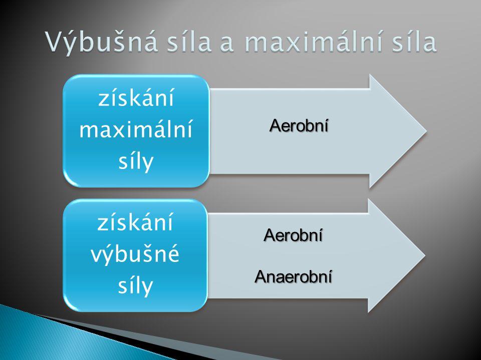 získání maximální síly získání výbušné síly Aerobní AerobníAnaerobní