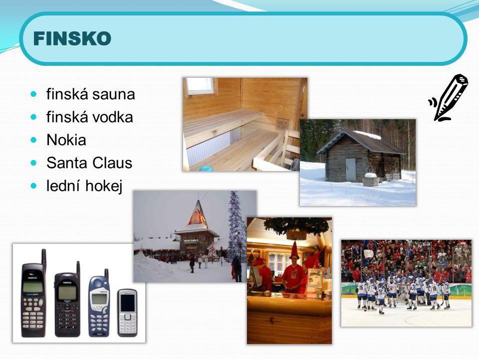 finská sauna  finská vodka  Nokia  Santa Claus  lední hokej