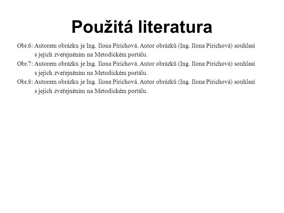 Použitá literatura Obr.6: Autorem obrázku je Ing.Ilona Pirichová.