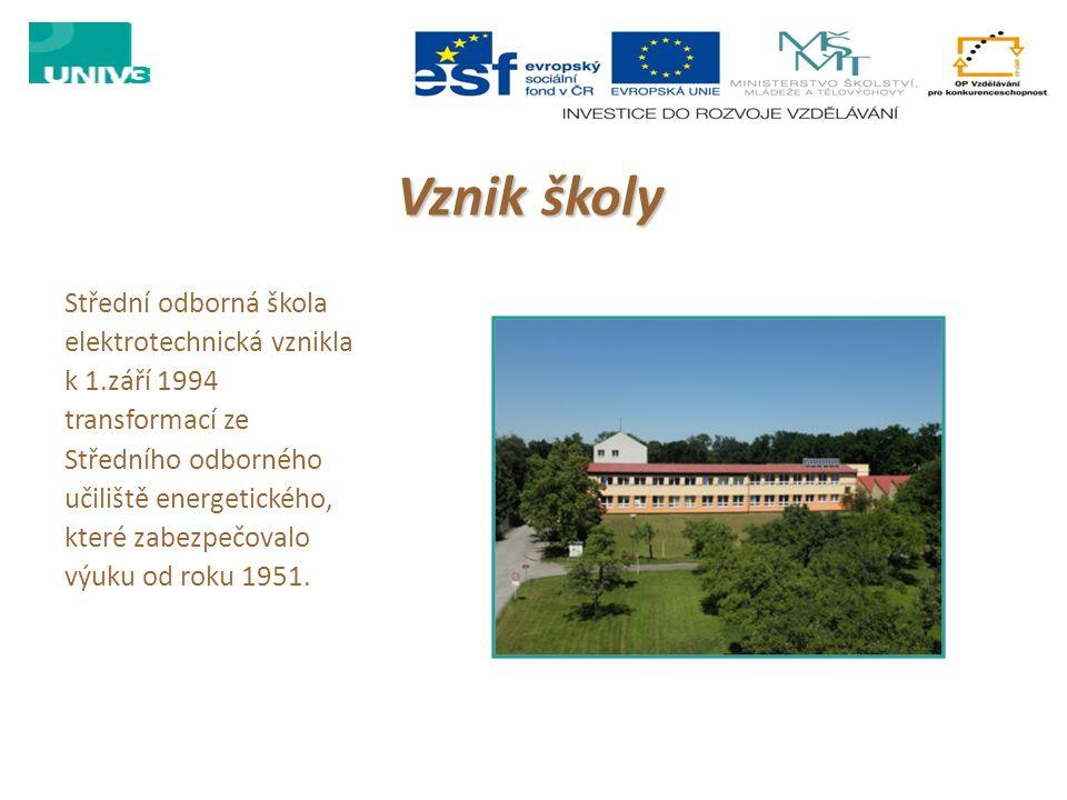 Vznik školy Střední odborná škola elektrotechnická vznikla k 1.září 1994 transformací ze Středního odborného učiliště energetického, které zabezpečova