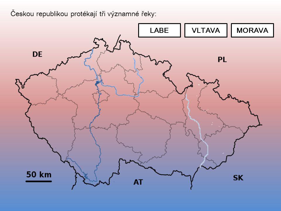 Českou republikou protékají tři významné řeky: LABEVLTAVAMORAVA