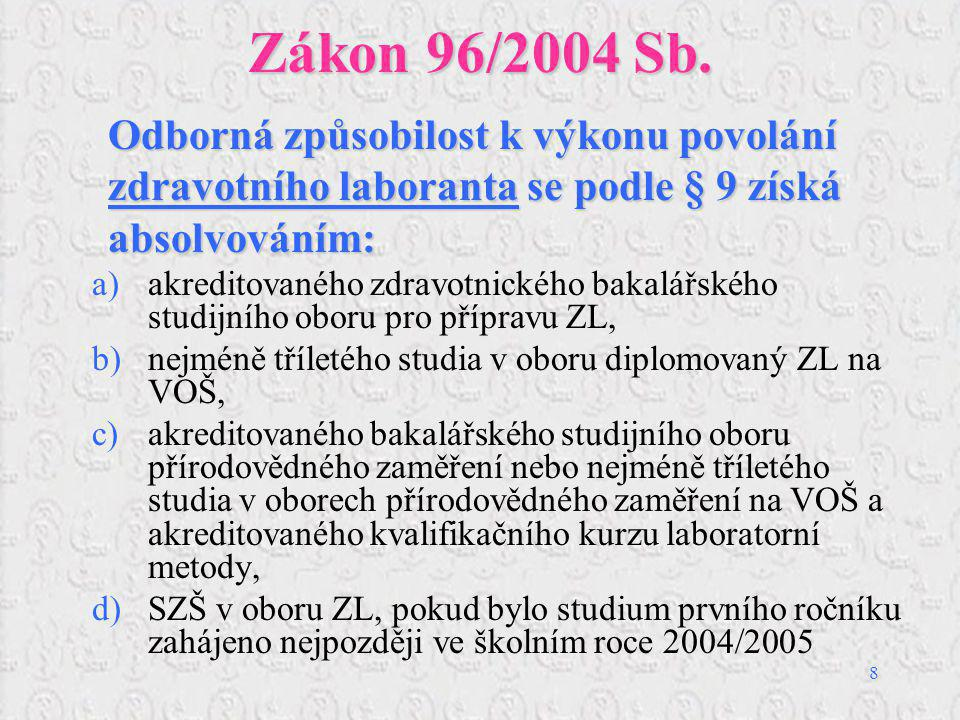 9 Zákon 96/2004 Sb.