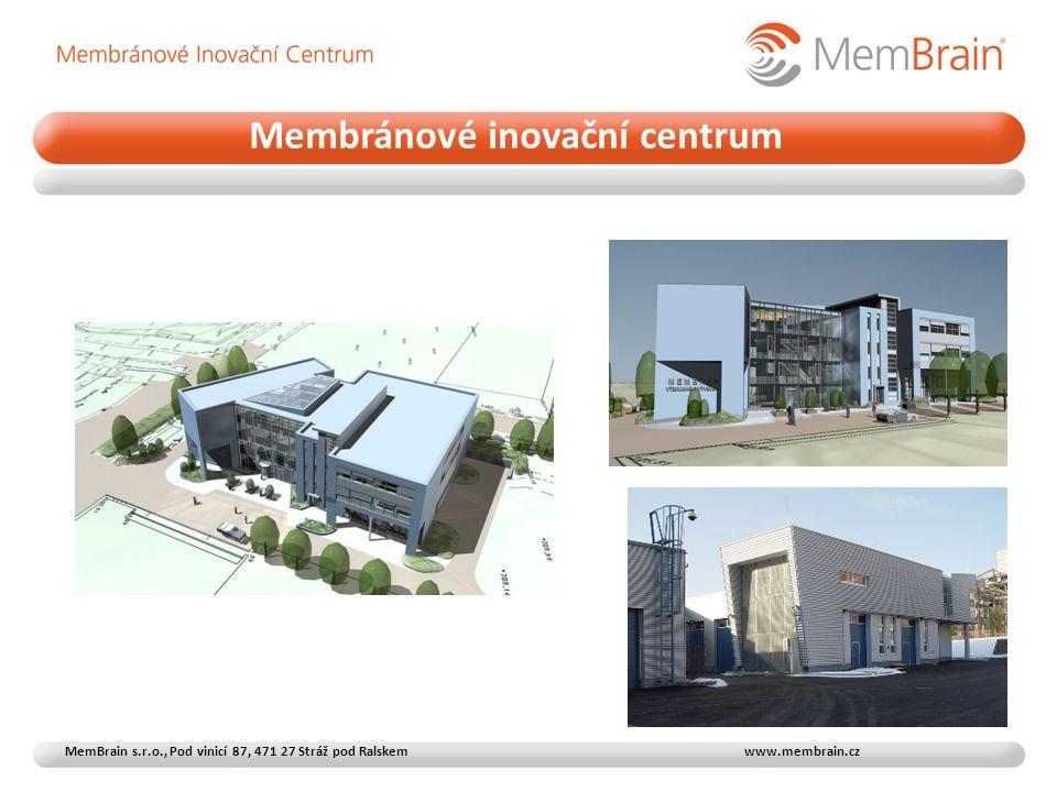 Membránové inovační centrum MemBrain s.r.o., Pod vinicí 87, 471 27 Stráž pod Ralskem www.membrain.cz