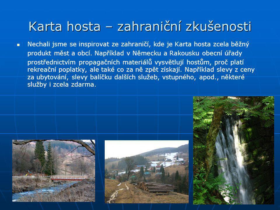 """Karta hosta – příklad   Rakousko/Tyrolsko, údolí Zillertal, obec Kaltenbach   host vyplní formulář přihlášky k pobytu a zadní stranu """"Karty hosta současně."""