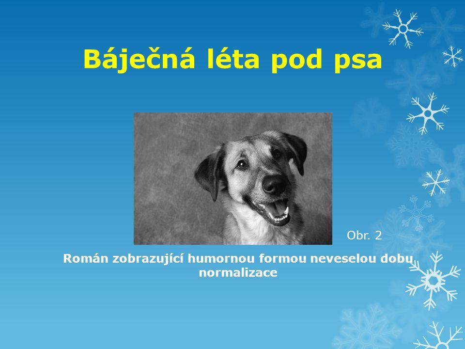 Báječná léta pod psa Román zobrazující humornou formou neveselou dobu normalizace Obr. 2