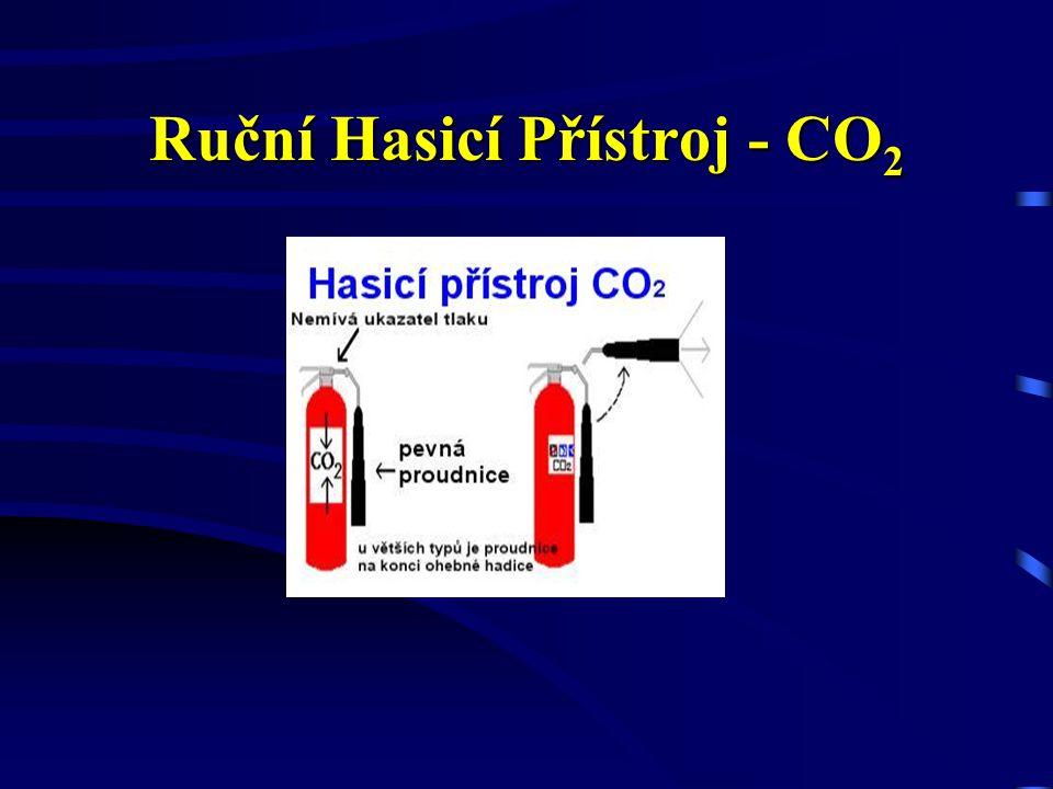 Ruční Hasicí Přístroj - práškový Nesmí být použit: k hašení lehkých hořlavých a alkalických kovů, volně uložených kusovitých, vláknitých apod. materiá