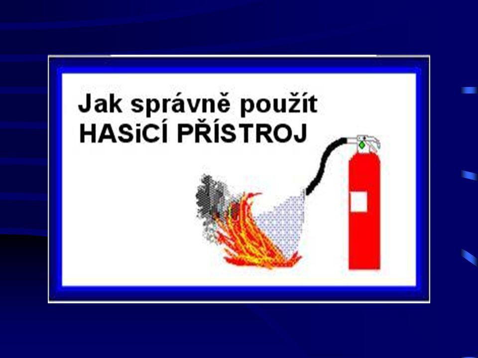 Ruční Hasicí Přístroj - halonový Nesmí být použit: k hašení v uzavřených a špatně větraných prostorách!