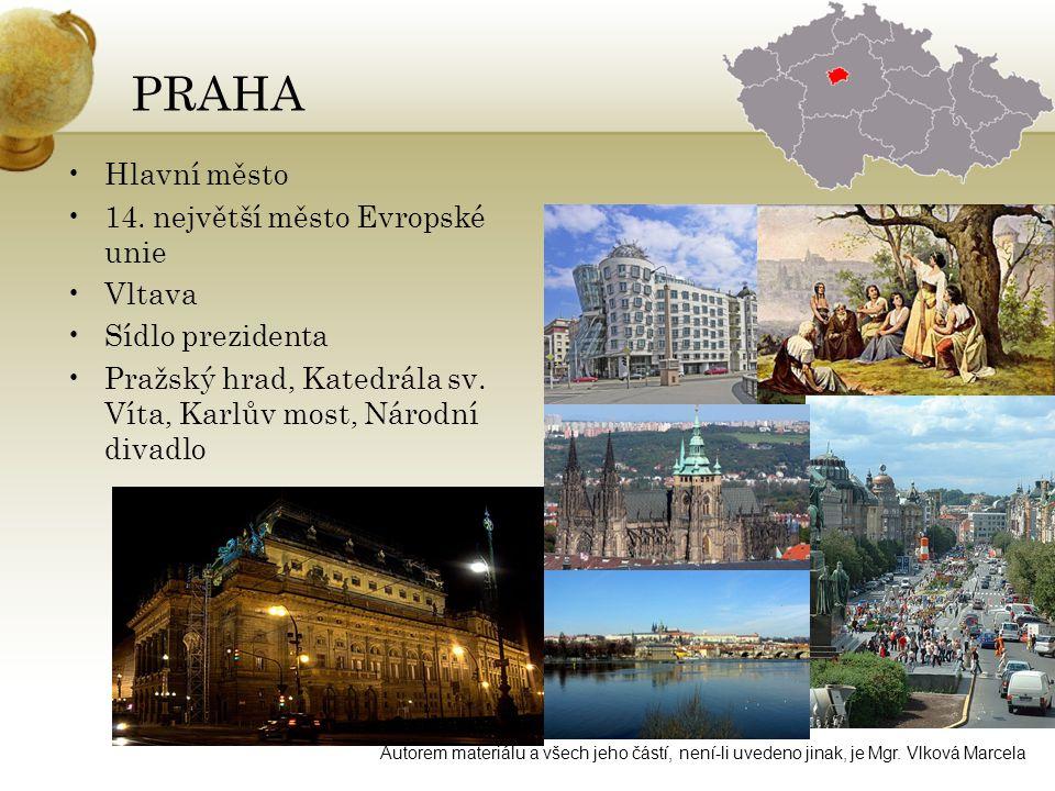 PRAHA •Hlavní město •14.