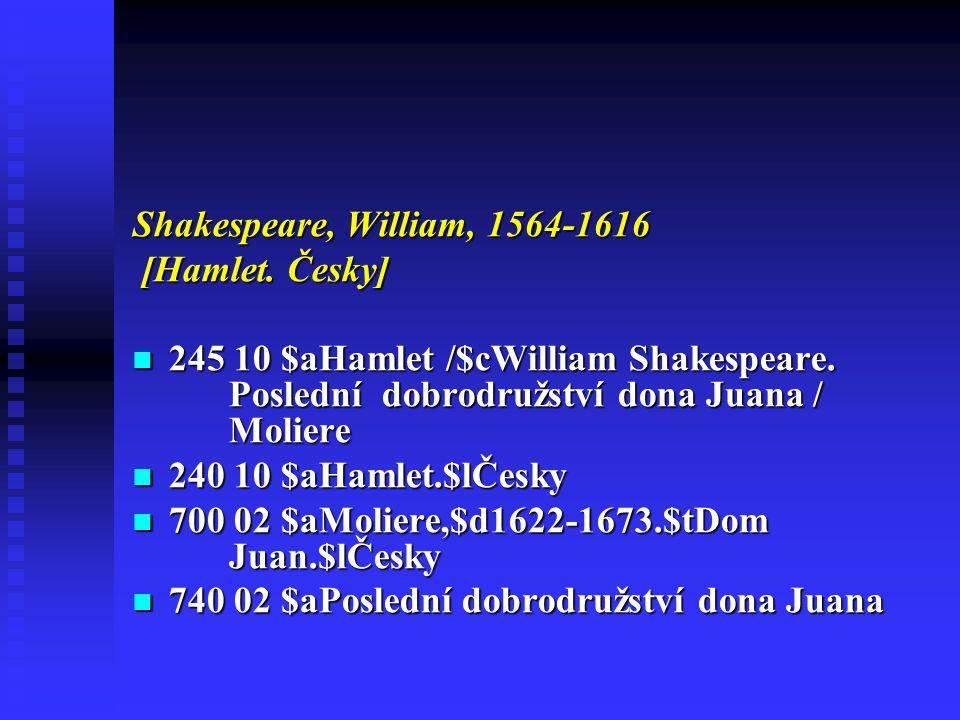 Shakespeare, William, 1564-1616 [Hamlet.Česky] [Hamlet.