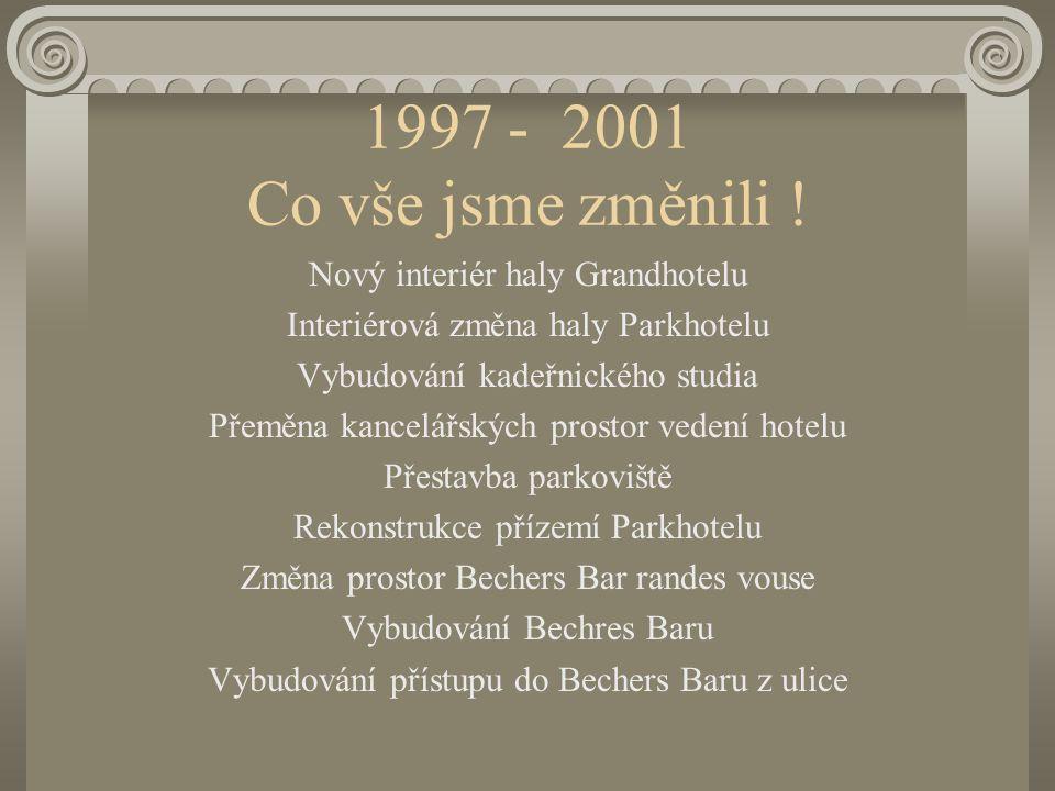 1997 – 2001 pár čísel, která jsou zajímavá 19962001% Obrat16028075 % Náklady210220 5 % Zisk - 44+60244 %