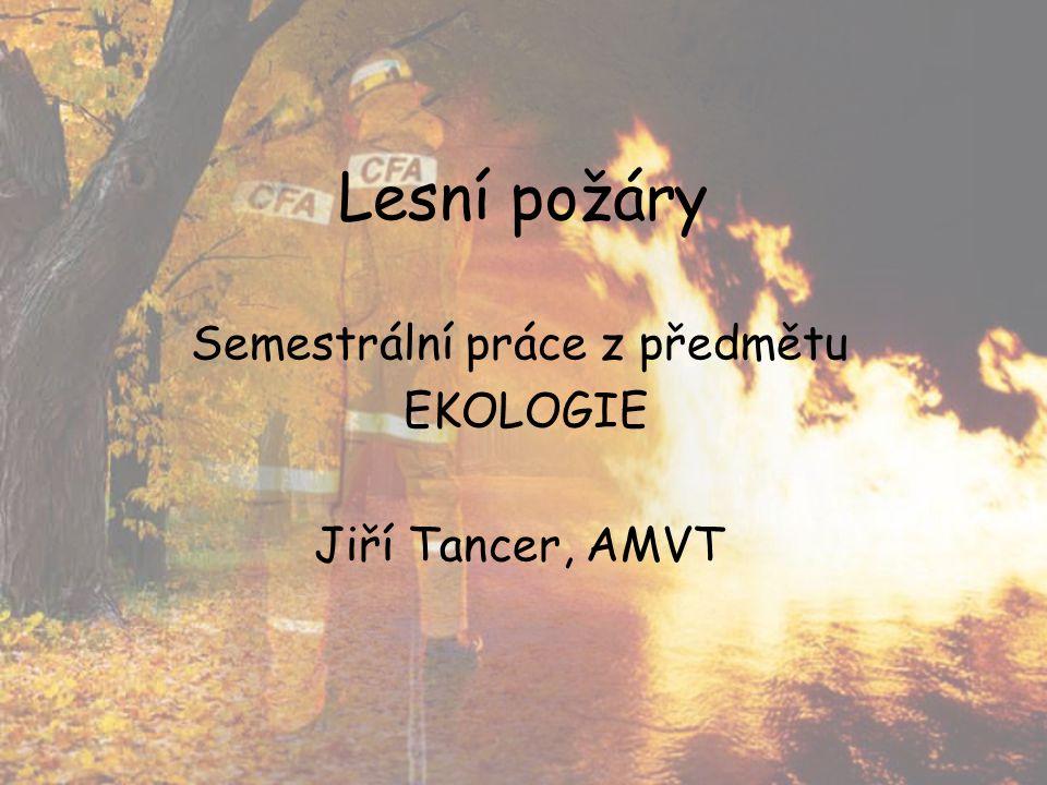 Lesní požáry Semestrální práce z předmětu EKOLOGIE Jiří Tancer, AMVT