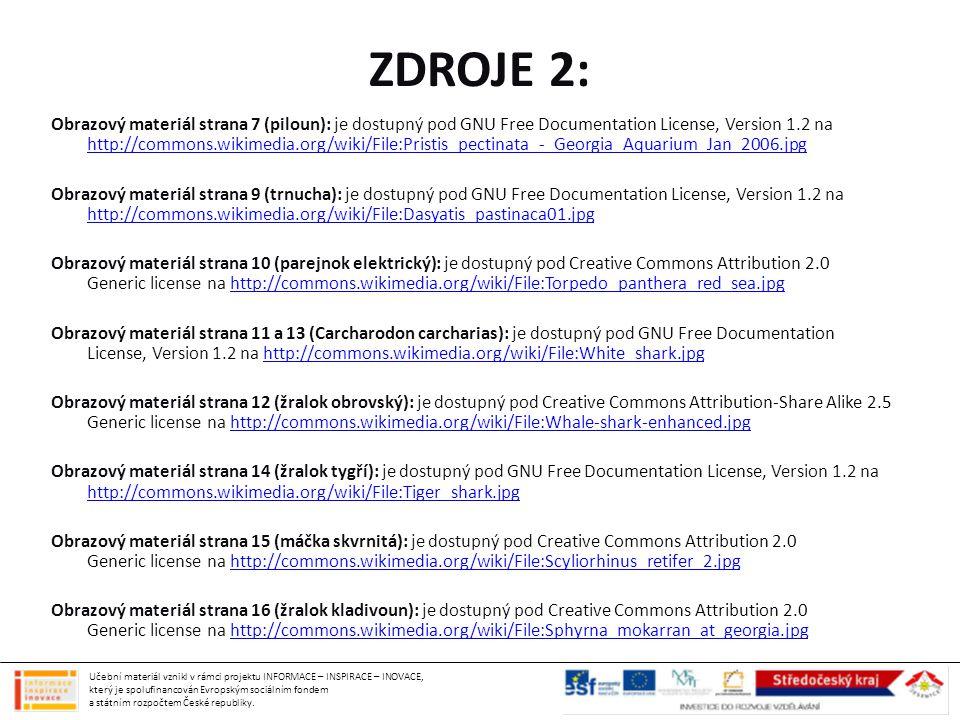ZDROJE 2: Obrazový materiál strana 7 (piloun): je dostupný pod GNU Free Documentation License, Version 1.2 na http://commons.wikimedia.org/wiki/File:P