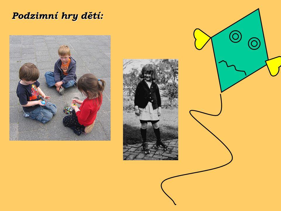 Podzimní hry dětí: