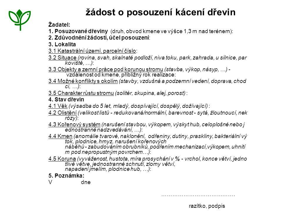 riziková místa na stromě AOPK ČR Ostrava