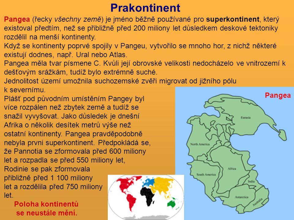 Pangea (řecky všechny země) je jméno běžně používané pro superkontinent, který existoval předtím, než se přibližně před 200 miliony let důsledkem desk