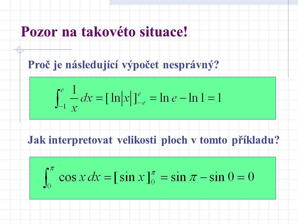 Pozor na takovéto situace! Proč je následující výpočet nesprávný? Jak interpretovat velikosti ploch v tomto příkladu?