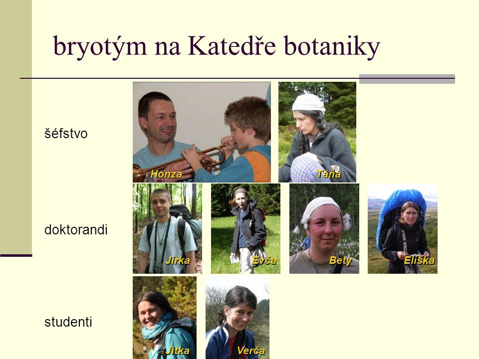 kontakty  sledujte bryologické exkurze (botanika.prf.jcu.cz/exkurze.php)  terénní kurs bryologie  blokovka (čt-ne); jarní bude nejspíš koncem dubna – sledujte botanickou nástěnku  labmeetingy (út 9.45 v sudých týdnech na Vile)  bryoweb: botanika.prf.jcu.cz/bryoweb/  zajděte: Jan Kučera (kucera@prf.jcu.cz), Jiří Košnar (molek.