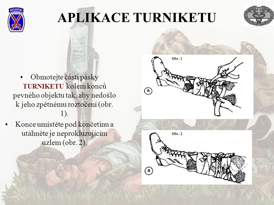 APLIKACE TURNIKETU •Obmotejte části pásky TURNIKETU kolem konců pevného objektu tak, aby nedošlo k jeho zpětnému roztočení (obr.