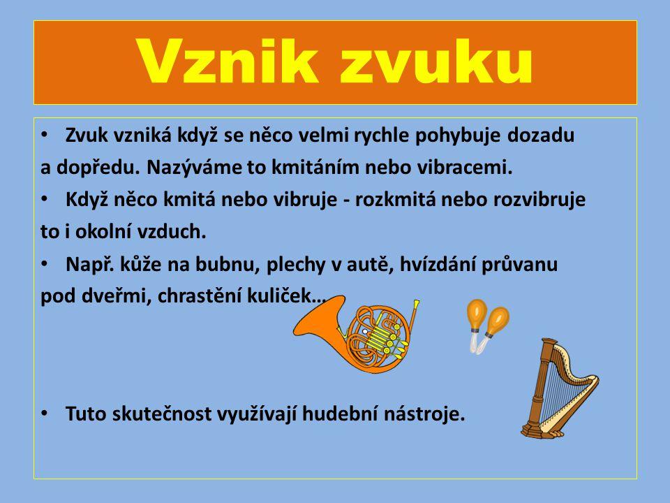 ZVUK Autorem materiálu a všech jeho částí, není-li uvedeno jinak, je Mgr. Jarmila Hájková Dostupné z Metodického portálu www.rvp.cz, ISSN: 1802-4785,