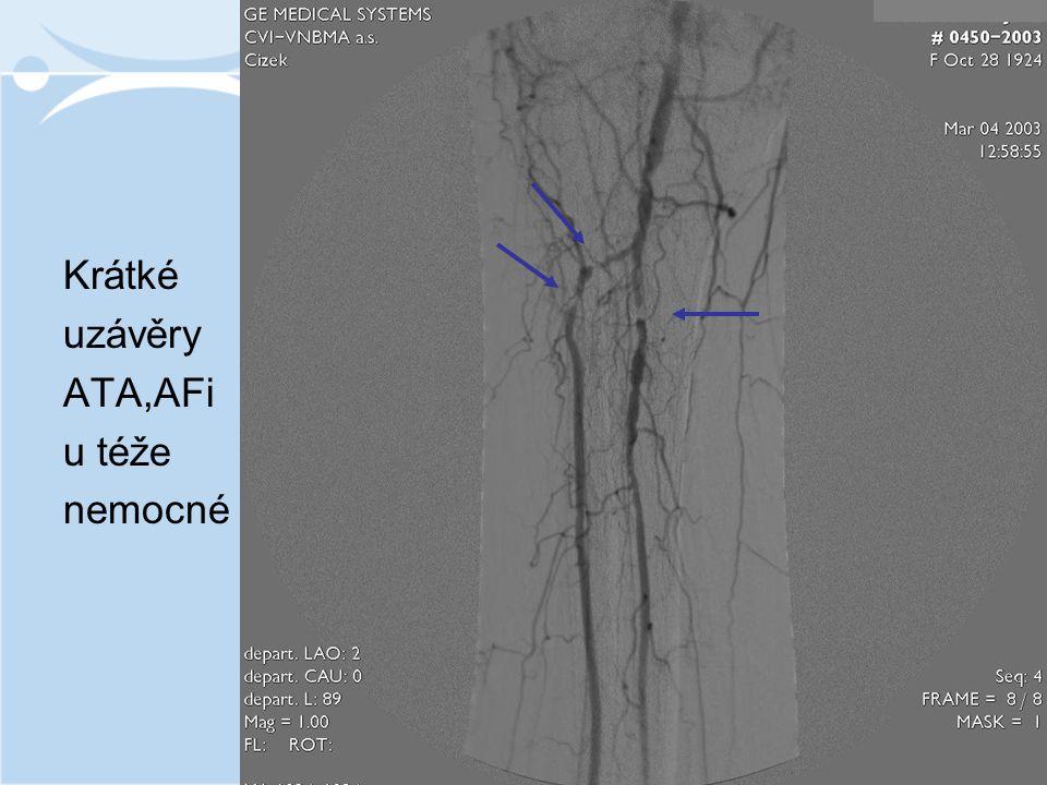 Krátké uzávěry ATA,AFi u téže nemocné
