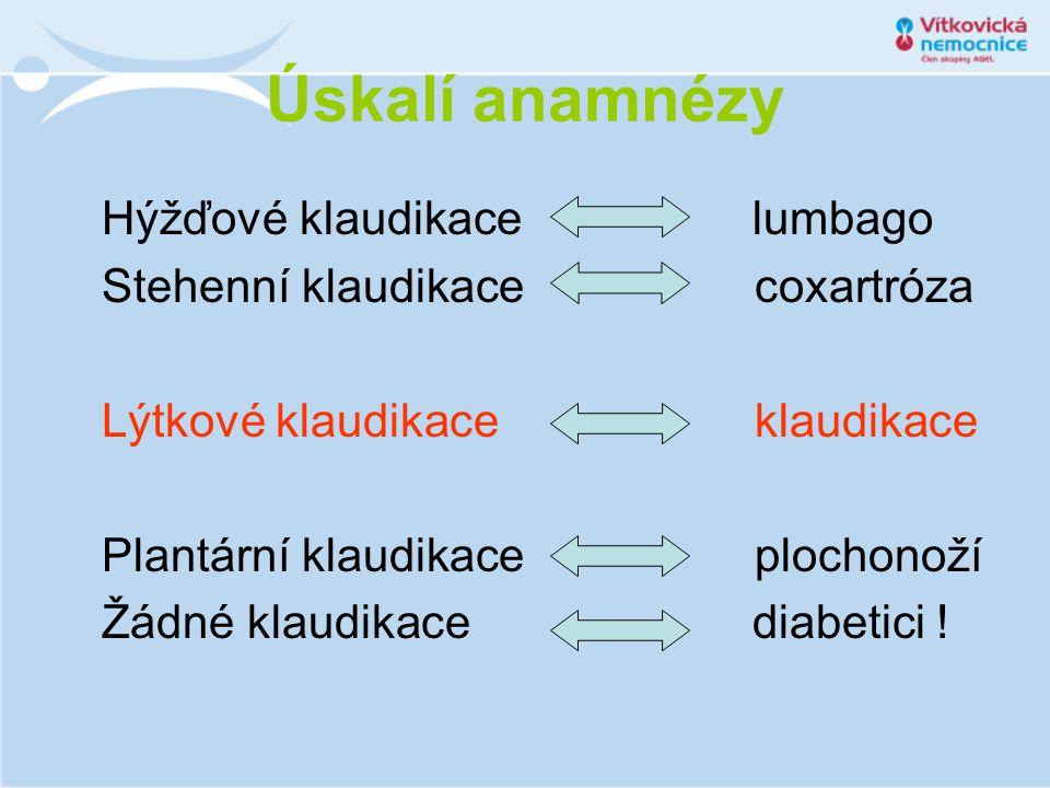 Úskalí objektivního nálezu Pulsace v tříslech stranový rozdíl .