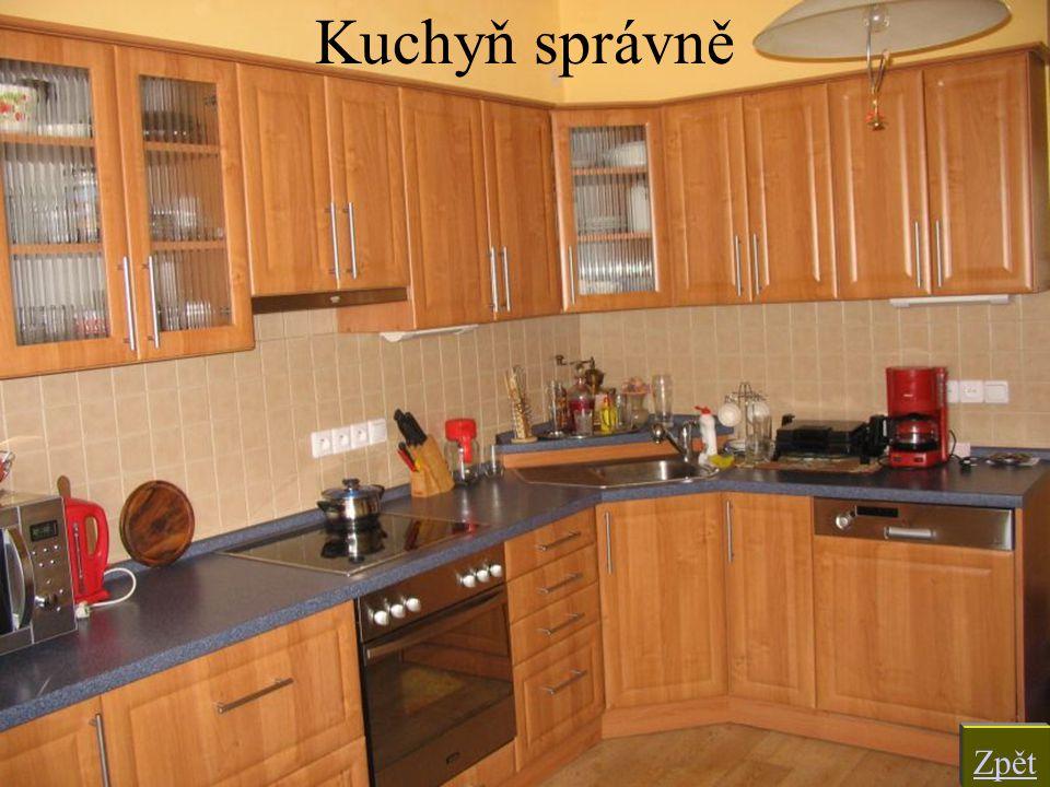 Kuchyň správně Zpět