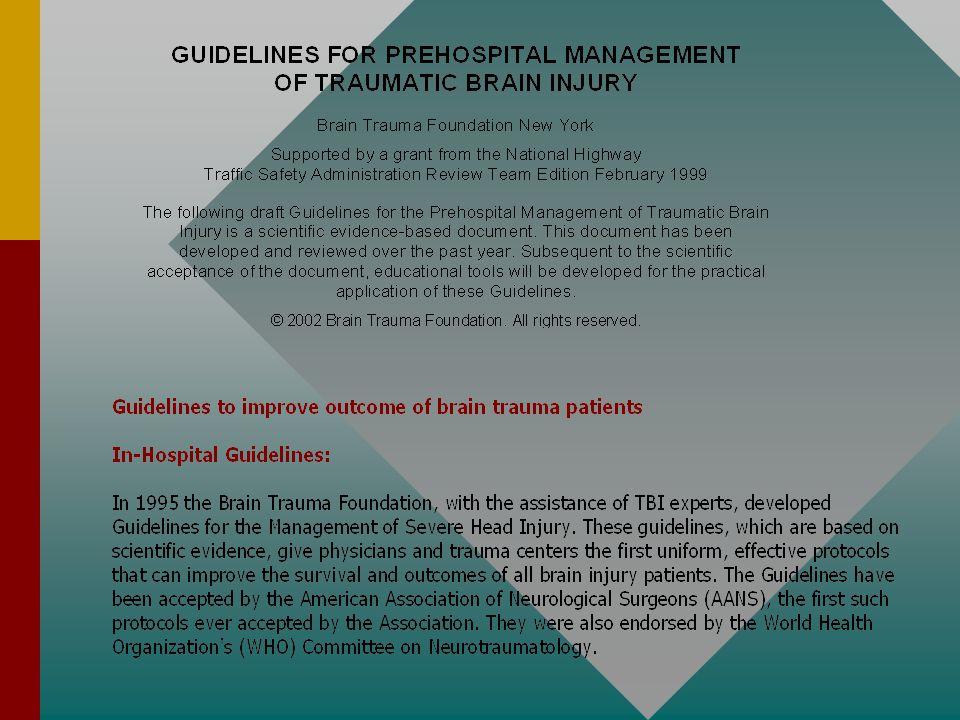 Hlavní zásady při zabezpečení pacienta s těžkým KCP(GCS pod 9) poraněním v regionu.(dle standartů IGEH) 1) Rychlé, odborné přednemocniční ošetření (RZP) 2) Kvalitní transport do nemocnice kde je možné provést přesnou diagnostiku a zahájit adekvátní léčbu (4 nemocnice našeho regionu).