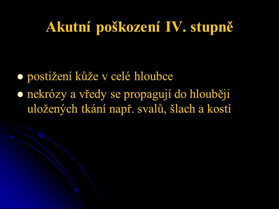 Akutní poškození IV.