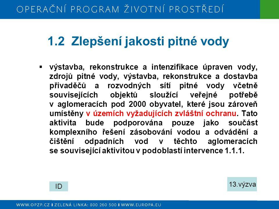 Prováděcí dokumenty  Programový dokument OPŽP  Implementační dokument verze 10.11.2008  Směrnice MŽP č.