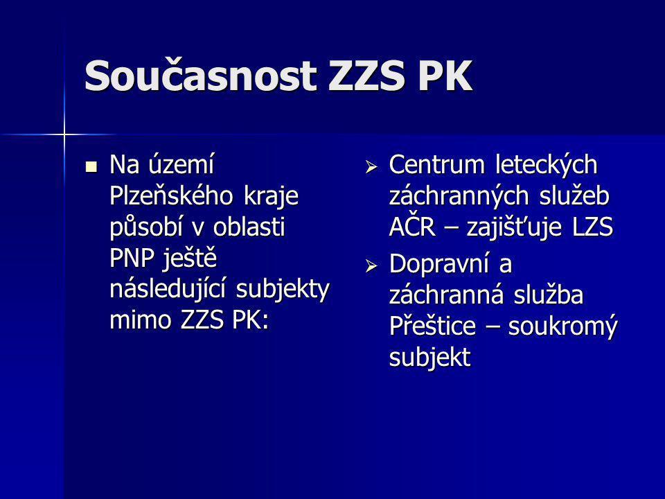 Současnost ZZS PK  Na území Plzeňského kraje působí v oblasti PNP ještě následující subjekty mimo ZZS PK:  Centrum leteckých záchranných služeb AČR