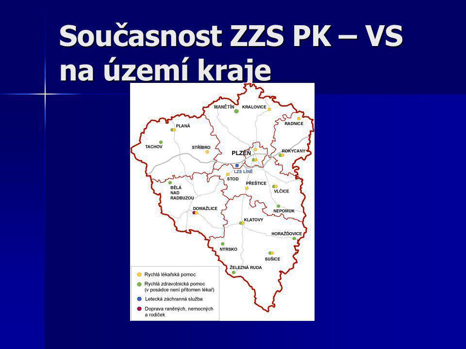 Současnost ZZS PK – VS na území kraje