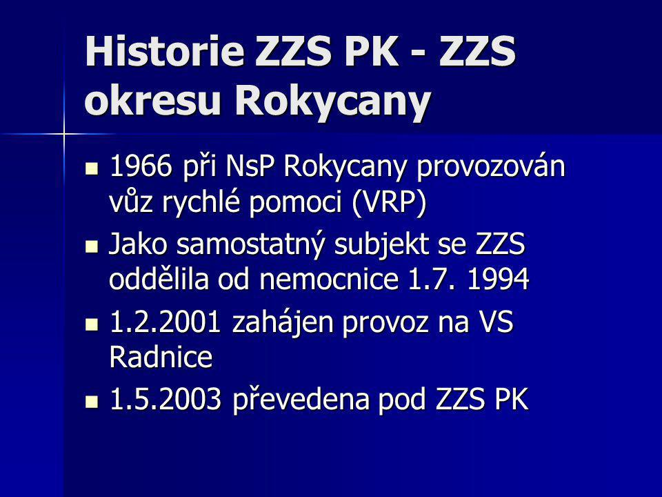 Historie ZZS PK - ZZS okresu Plzeň - sever  Samostatná ZZS zahájila činnost roku 1990 s výjezdovými stanovišti Plzeň a Plasy, následně bylo výjezdové stanoviště z Plas přesunuto do Kralovic  1.5.2003 bylo Okresní středisko záchranné služby Plzeň-sever včleněno do ZZS PK