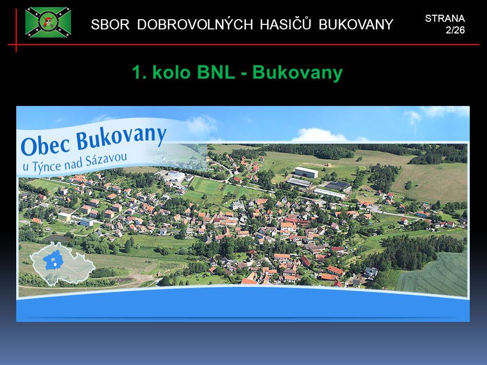 1. kolo BNL - Bukovany SBOR DOBROVOLNÝCH HASIČŮ BUKOVANY STRANA 2/26
