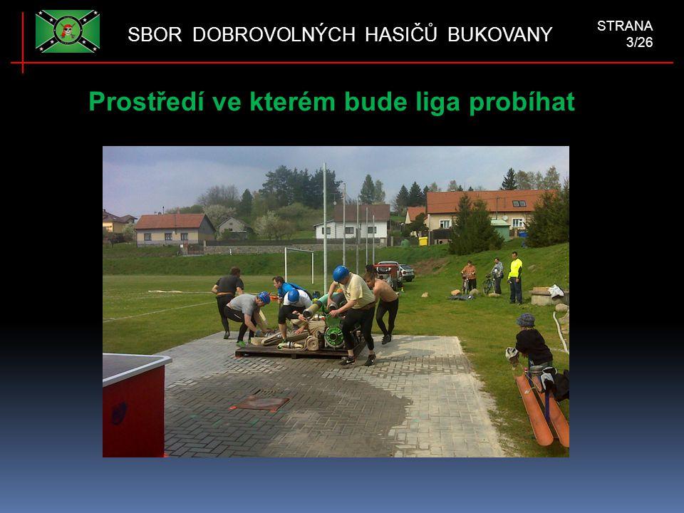 Prostředí ve kterém bude liga probíhat SBOR DOBROVOLNÝCH HASIČŮ BUKOVANY STRANA 3/26
